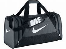 Nike Brasilia MEDIUM Bag Grey-White-Black