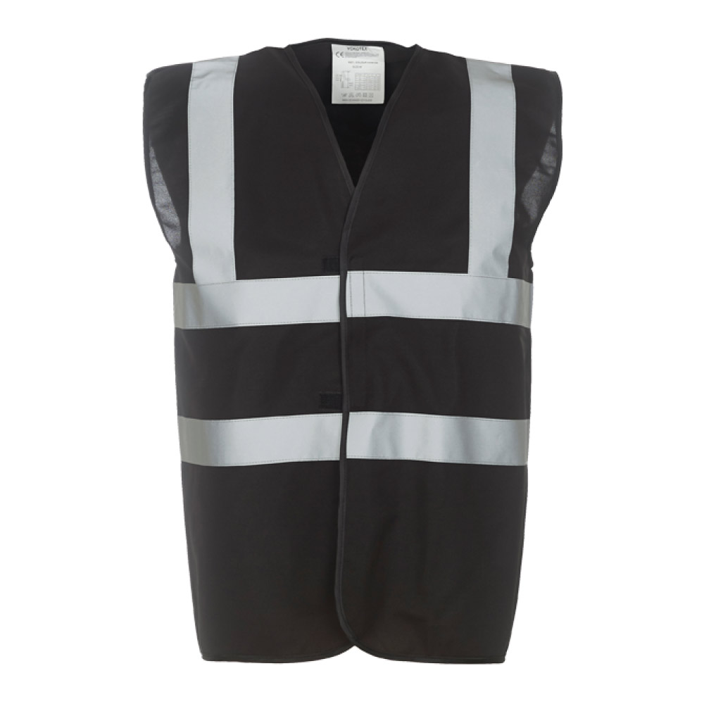 High Visibility Black Safety Vests