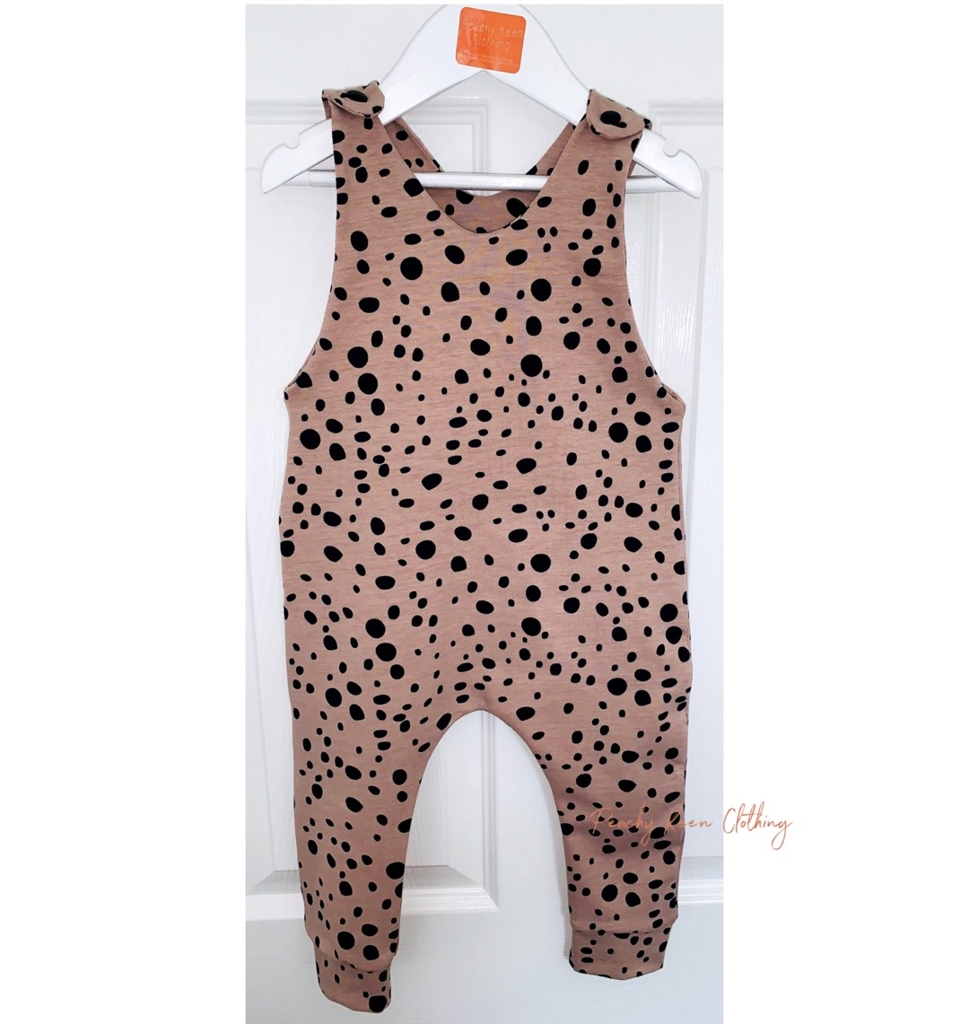 Rose Dots Romper
