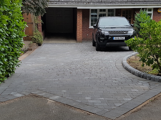 Alpha Charcoal Driveway in Windlesham by Block Paving Surrey