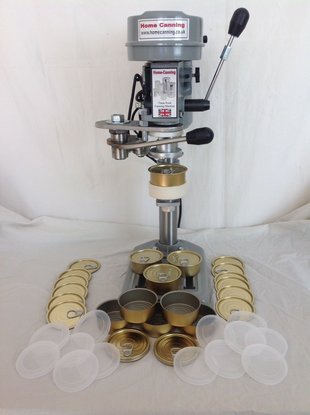 73mm Work-Top Electric Home Canning Machine + 300 cans 28mm + lids