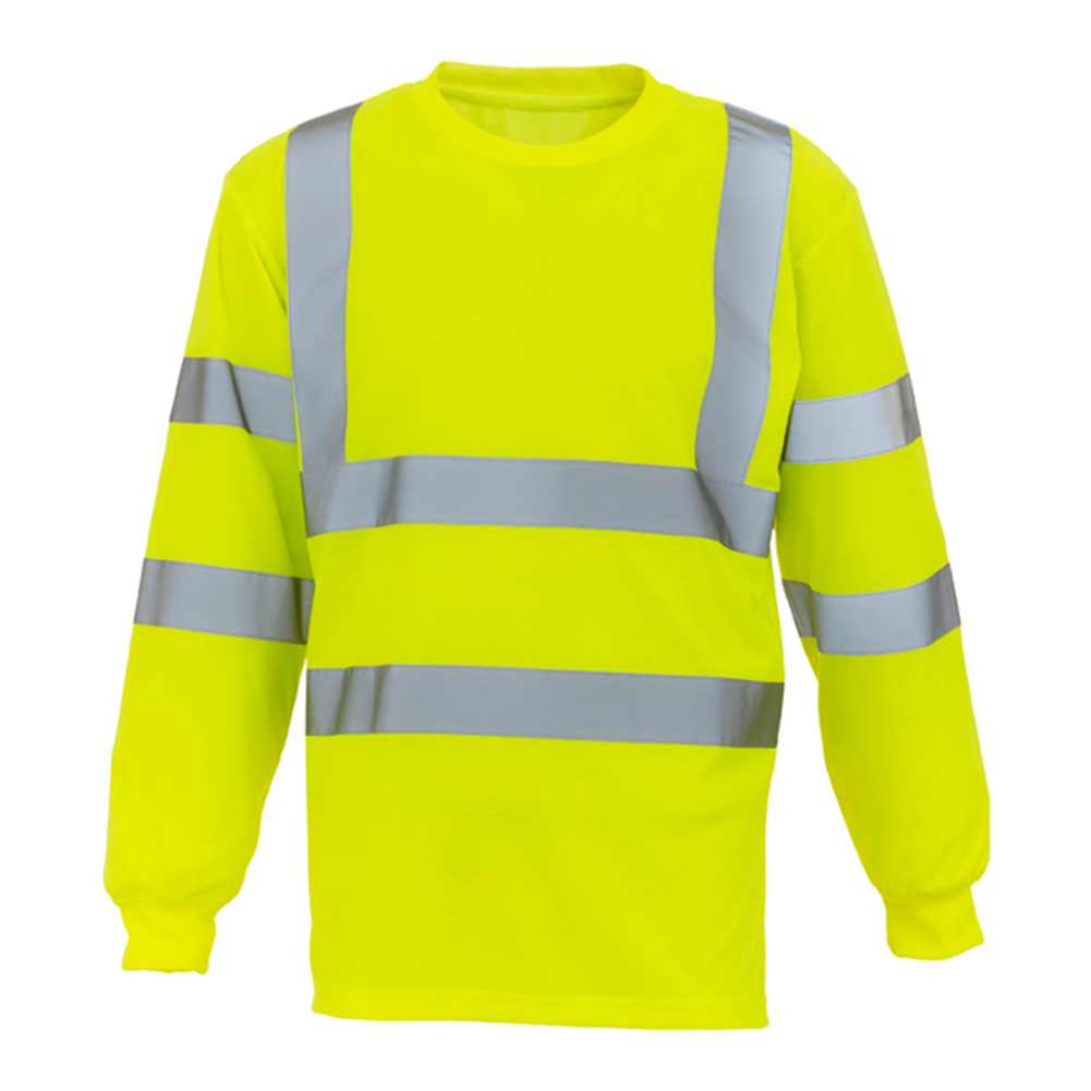 Hi Vis Yellow Long Sleeve T-Shirt