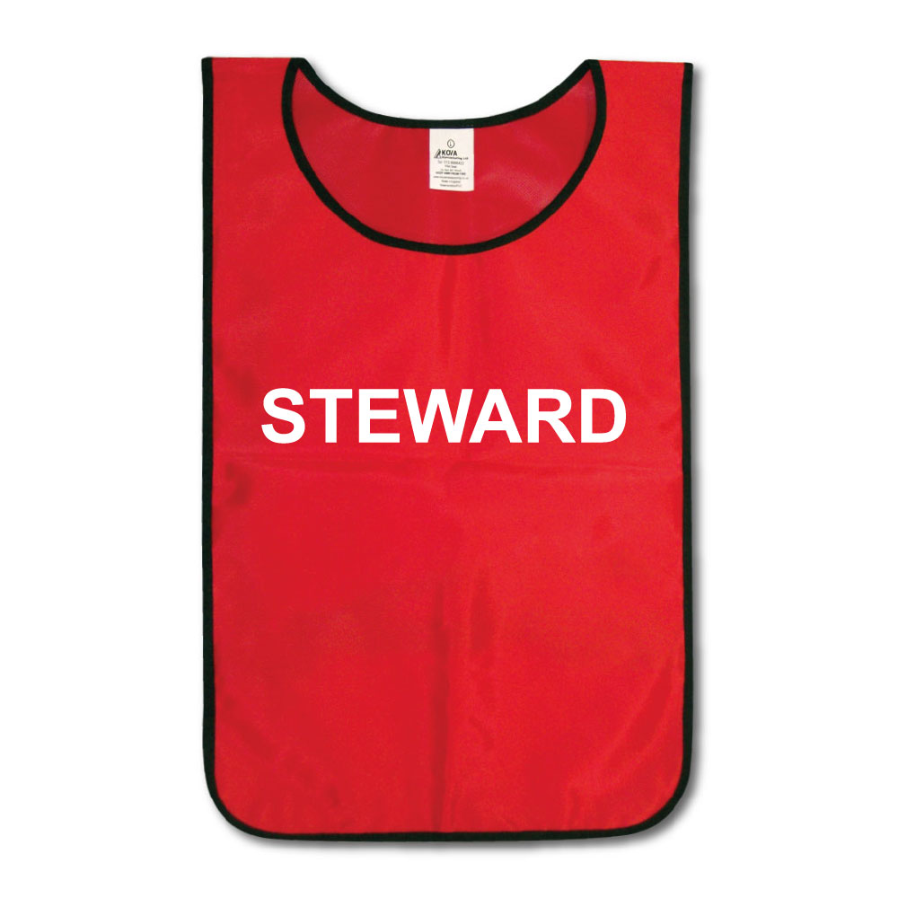 Red Tabard Printed Steward.