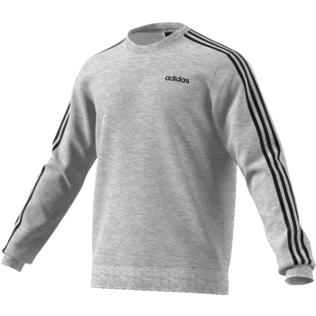 Adidas 3Stripe Crew Top Grey-Black