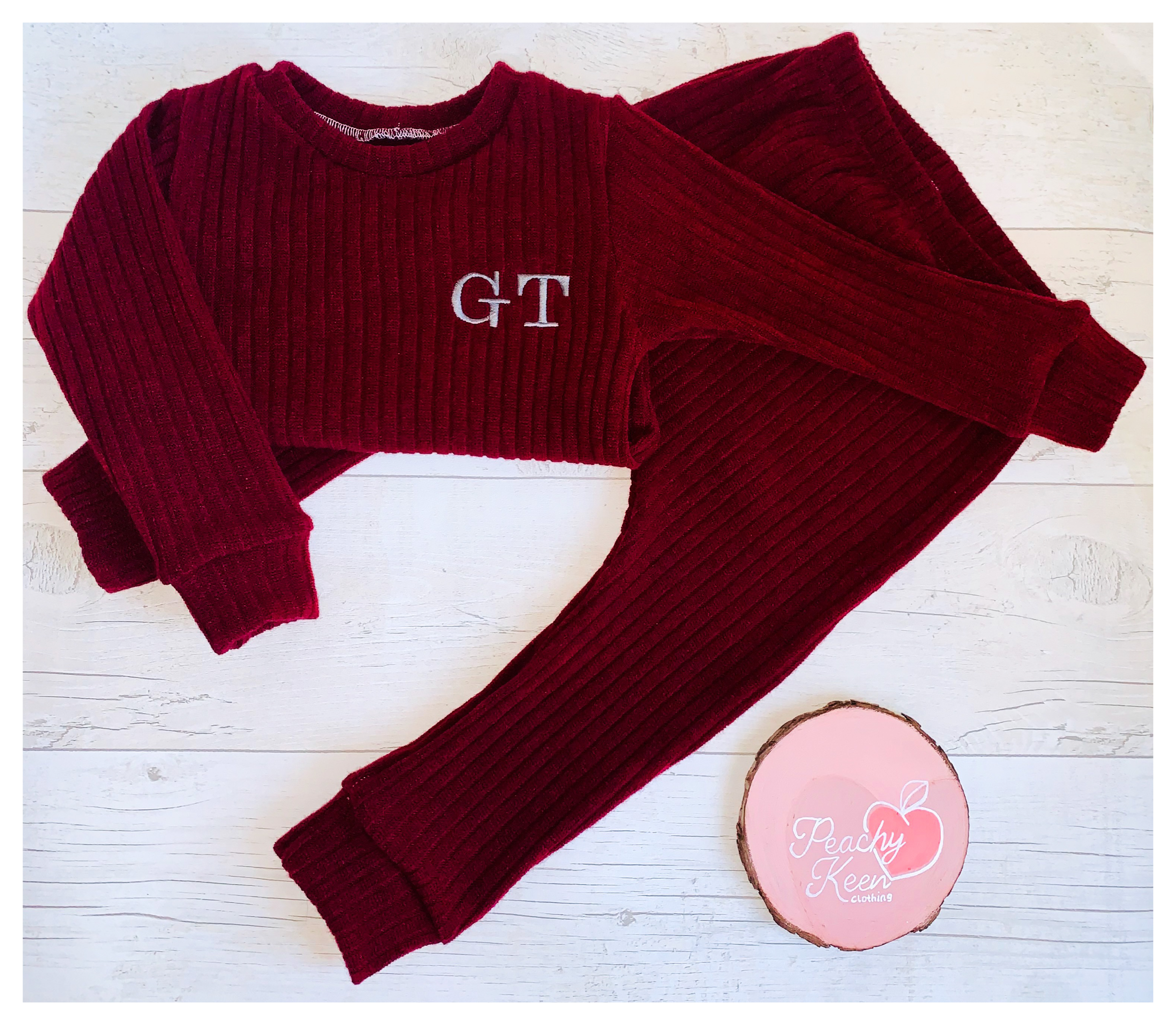Wine Chunky Knit Set
