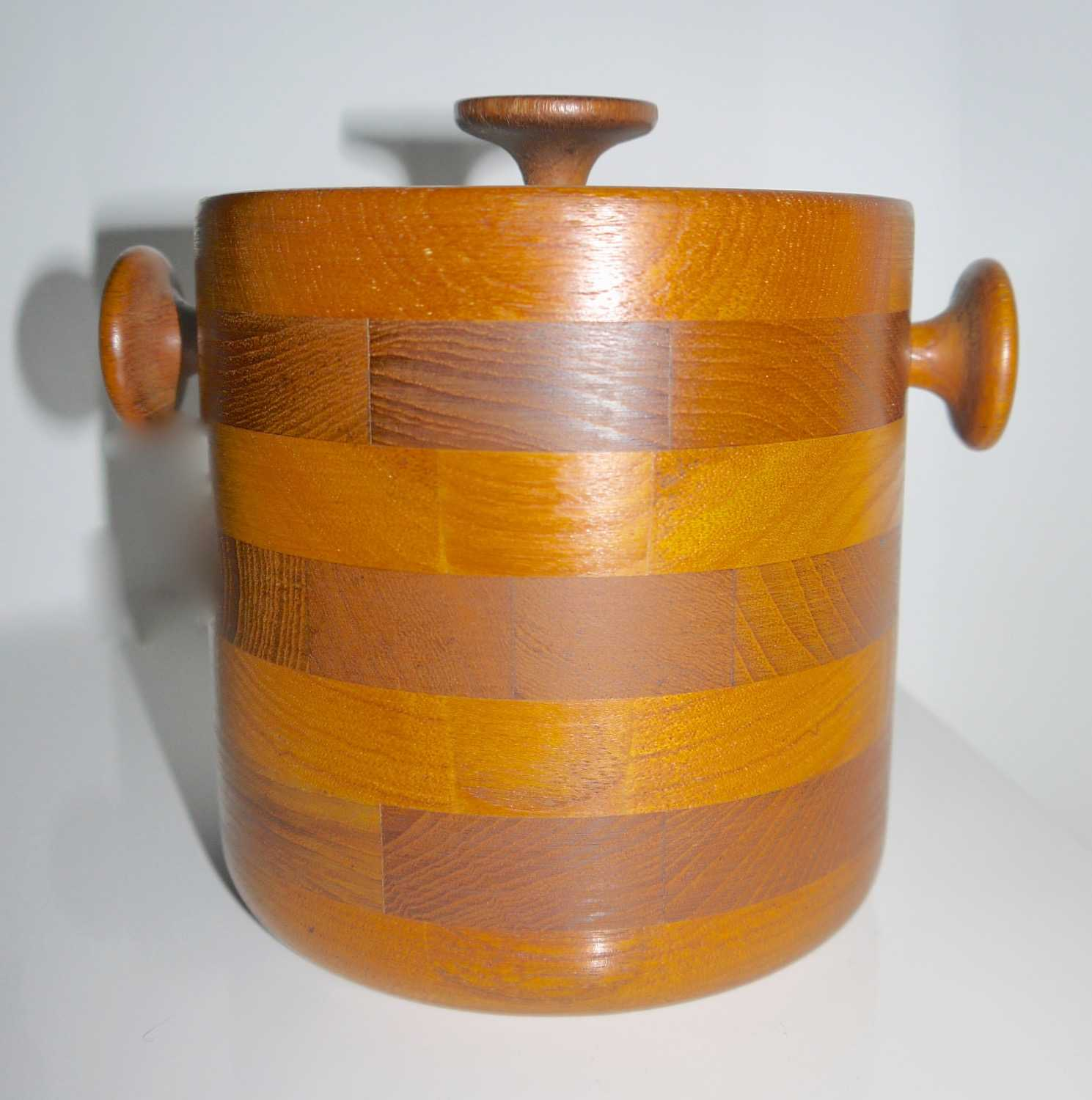 Viners 1960s table size Ice Bucket Teak and Stainless Steel 1960