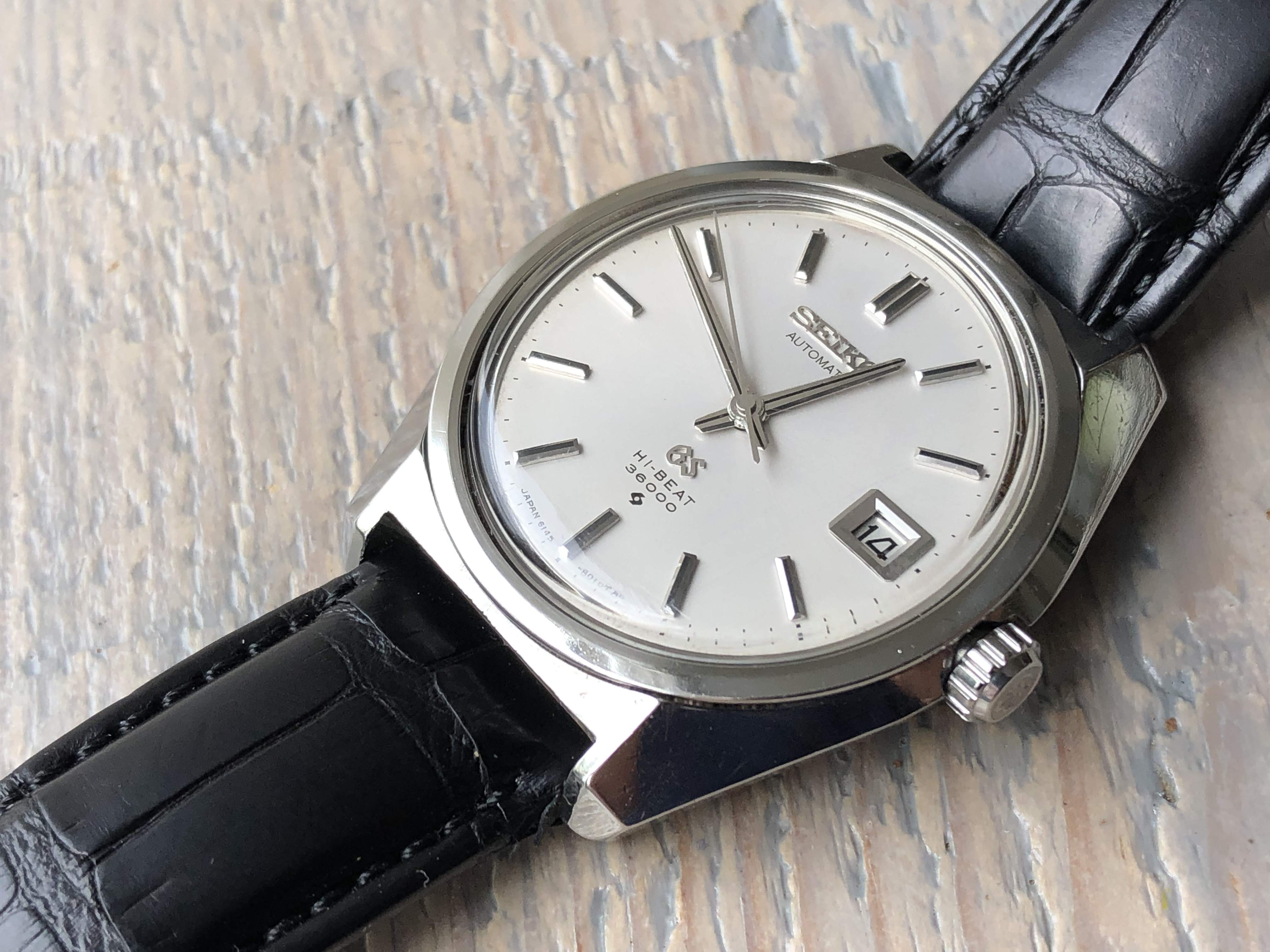 Grand Seiko 6145-8000 serviced with new mainspring (Sold)