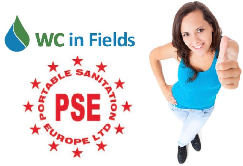 WC In Fields of Tongland, Kirkcudbright are proud members of Portable Sanitation Europe