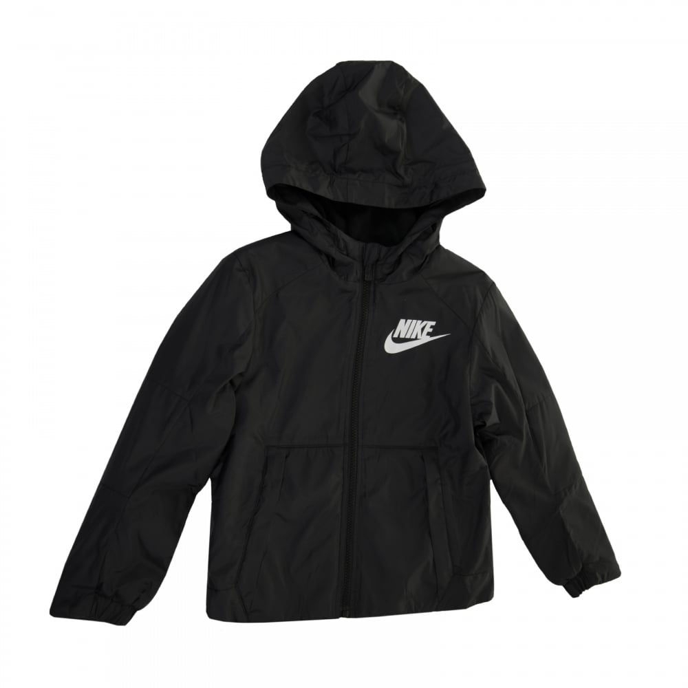 Nike NSW Fleece Lined Jacket Black-White