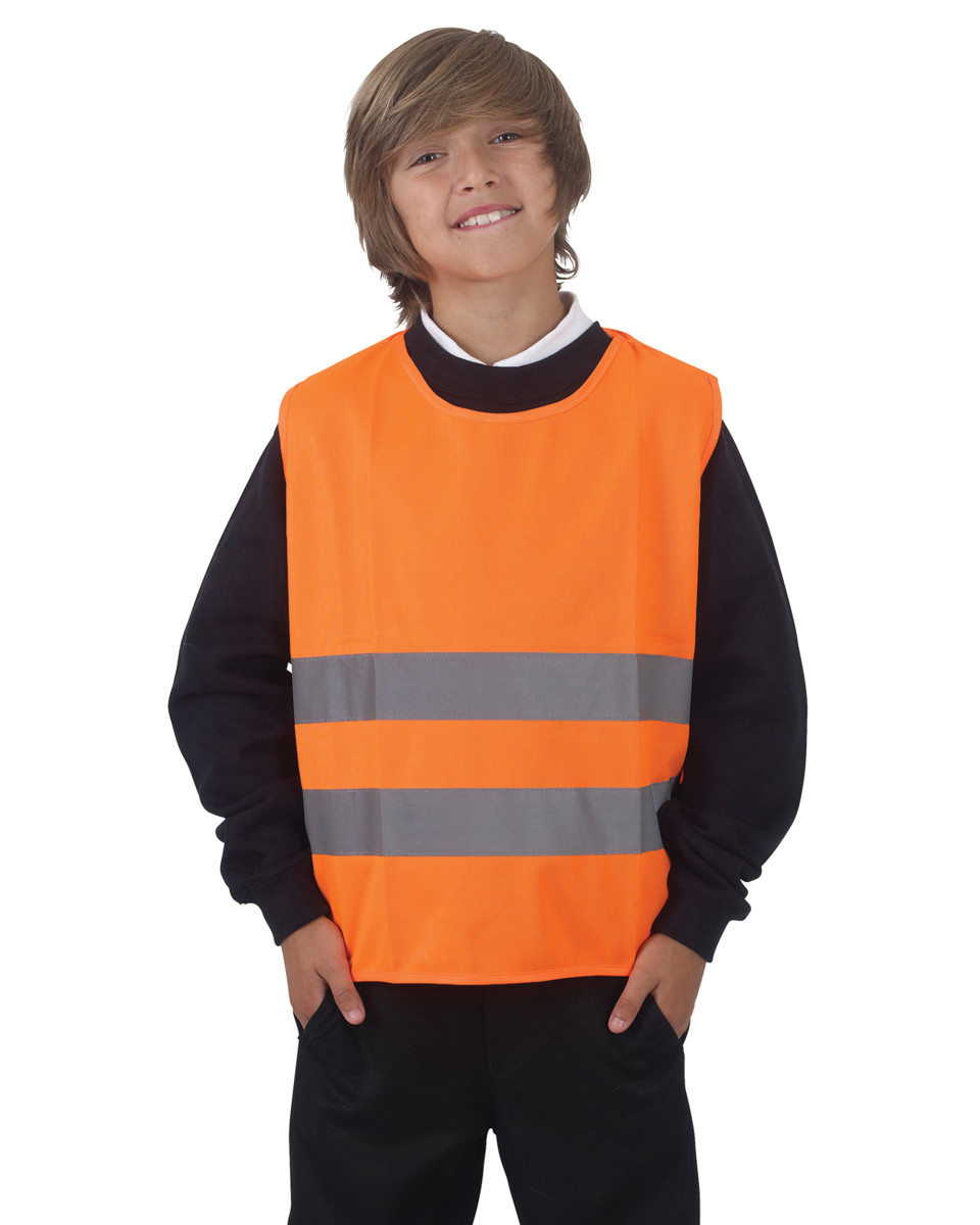 Orange Child's Hi Vis Reflective Tabards. 2 x 50mm strips.