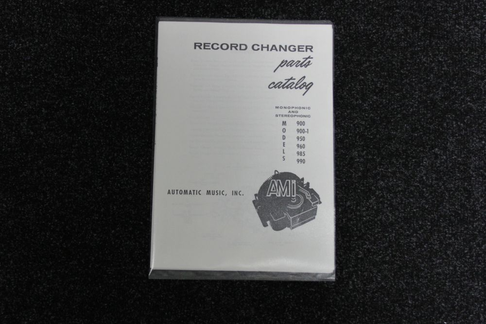 Wurlitzer Record Changer Parts Catalog - Model 900, 900-1, 950, 960, 985, 990