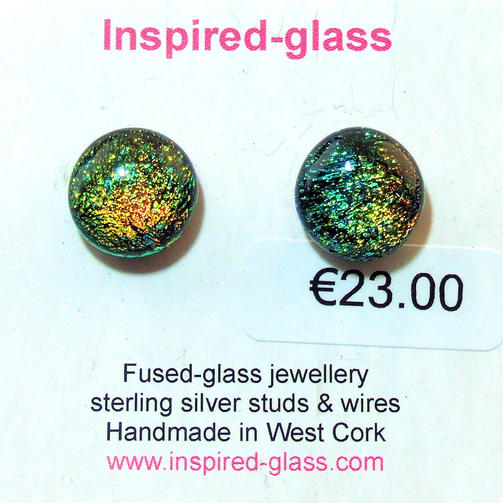 Fused-glass jewellery - stud earrings - 127