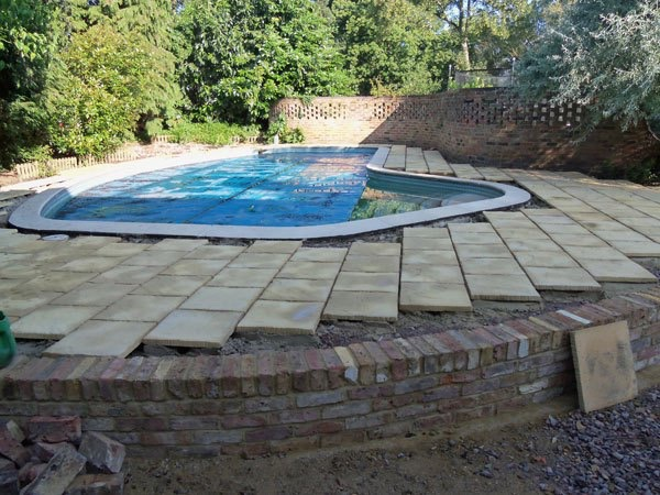 Swimming pool surround Weybridge, Surrey