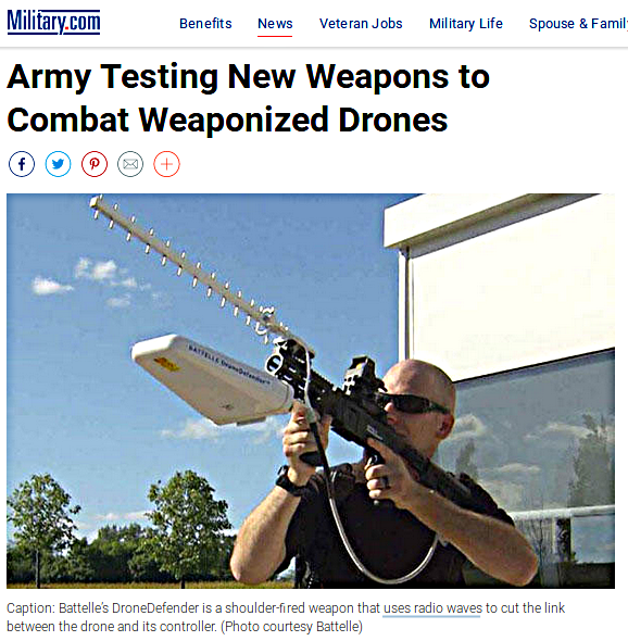 combatting weaponized drones