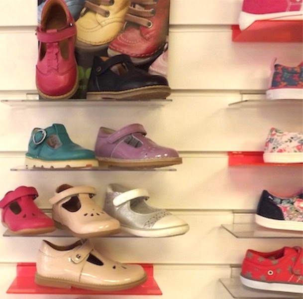 A colourful selection of leather shoes for toddlers