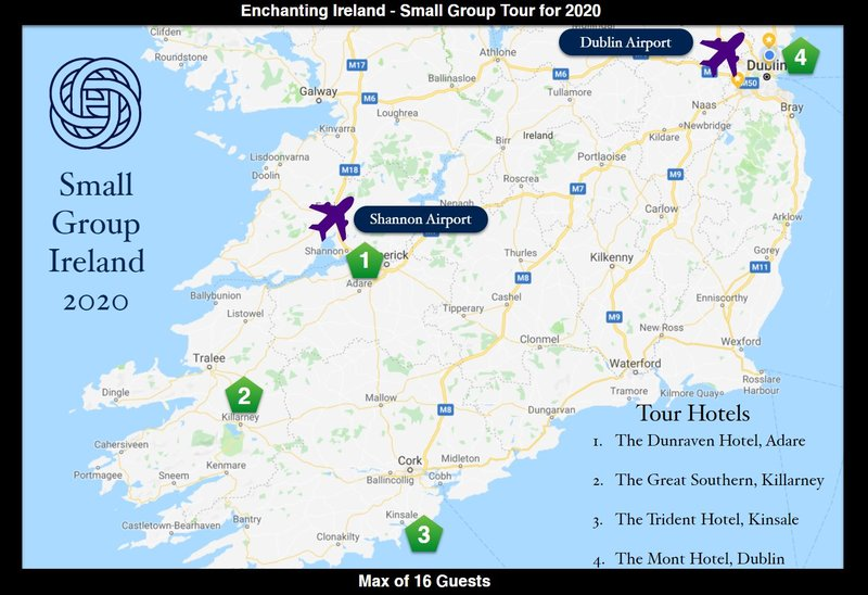 Enchanting Ireland - Small Group Tour - August 15th to 23rd 2020