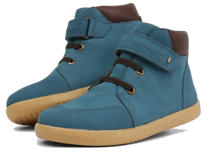 Blue suede boots for little boys