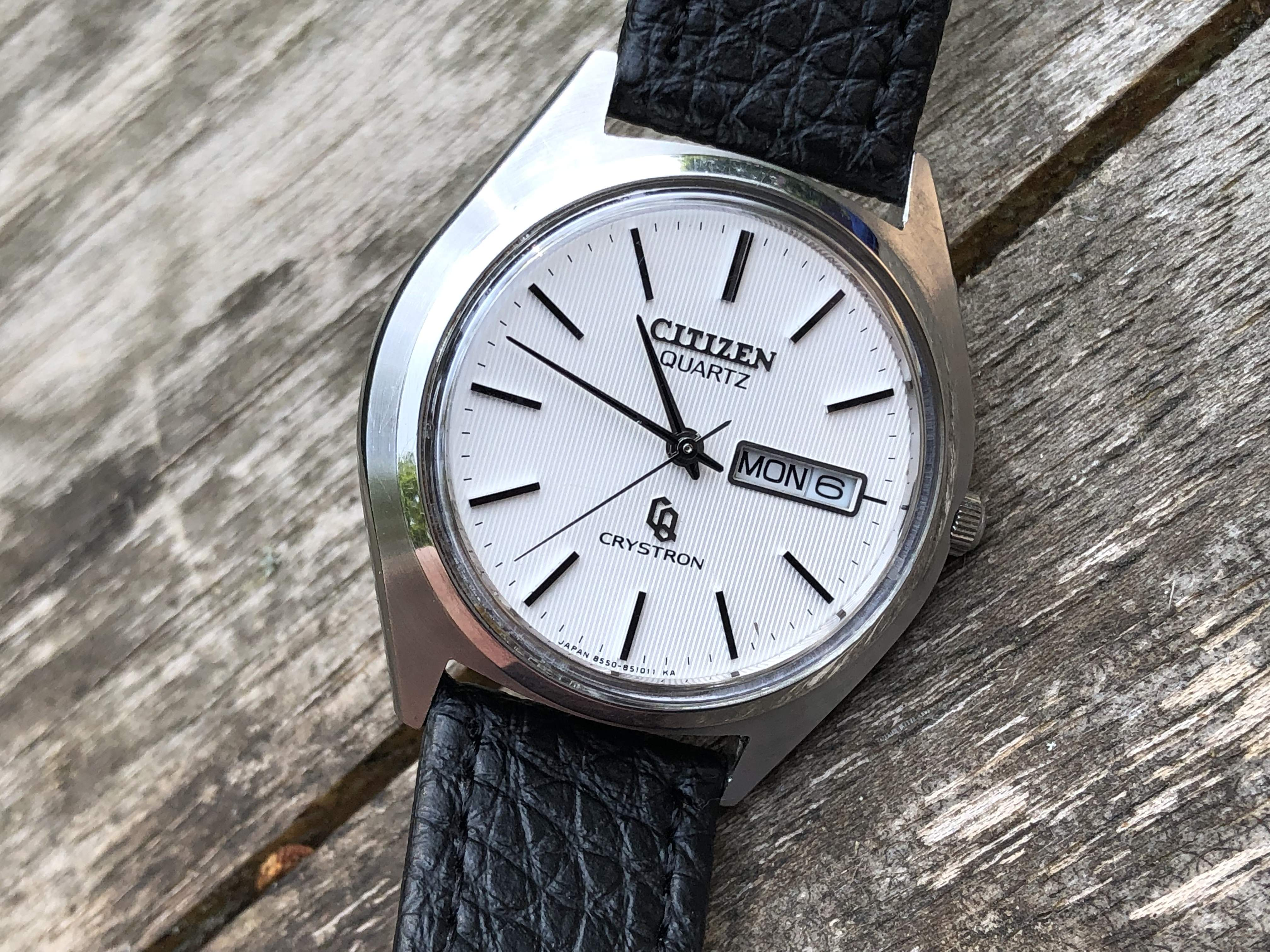 Citizen Crystron 4-853601TA running +10 spm! (For sale)