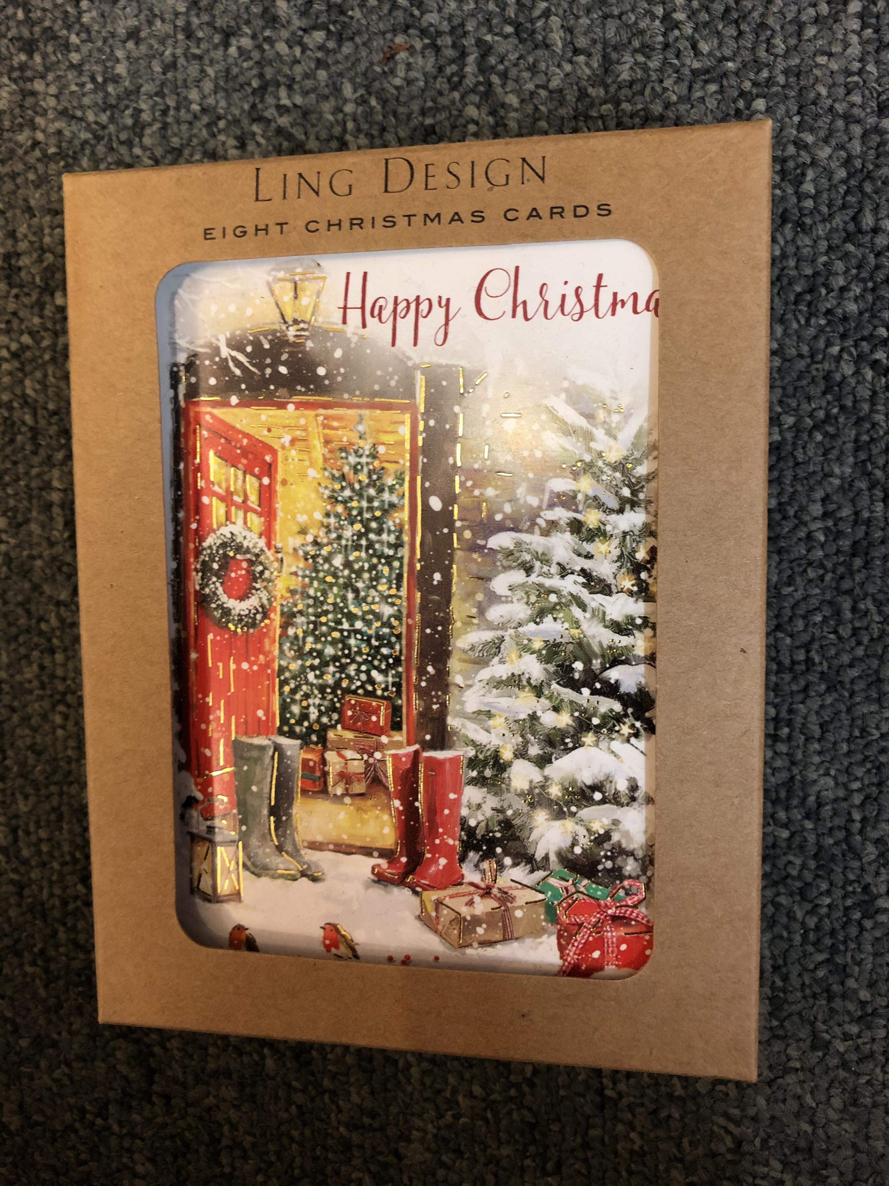 Ling Design 8 boxed Christmas cards