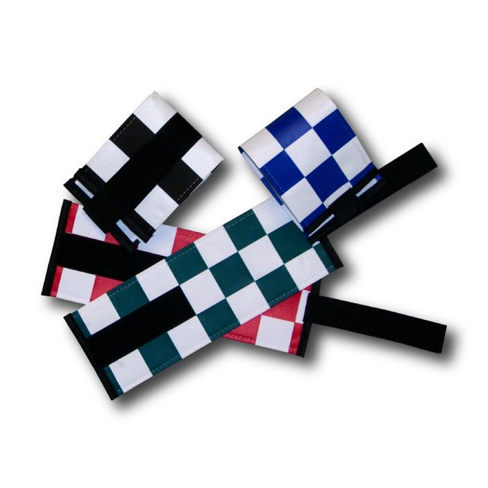 Armbands With Check Pattern