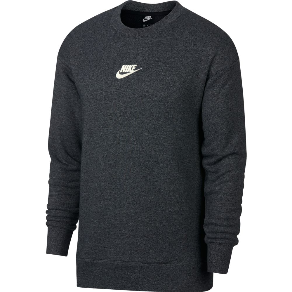 Nike Heritage Crew Top Charcoal-White