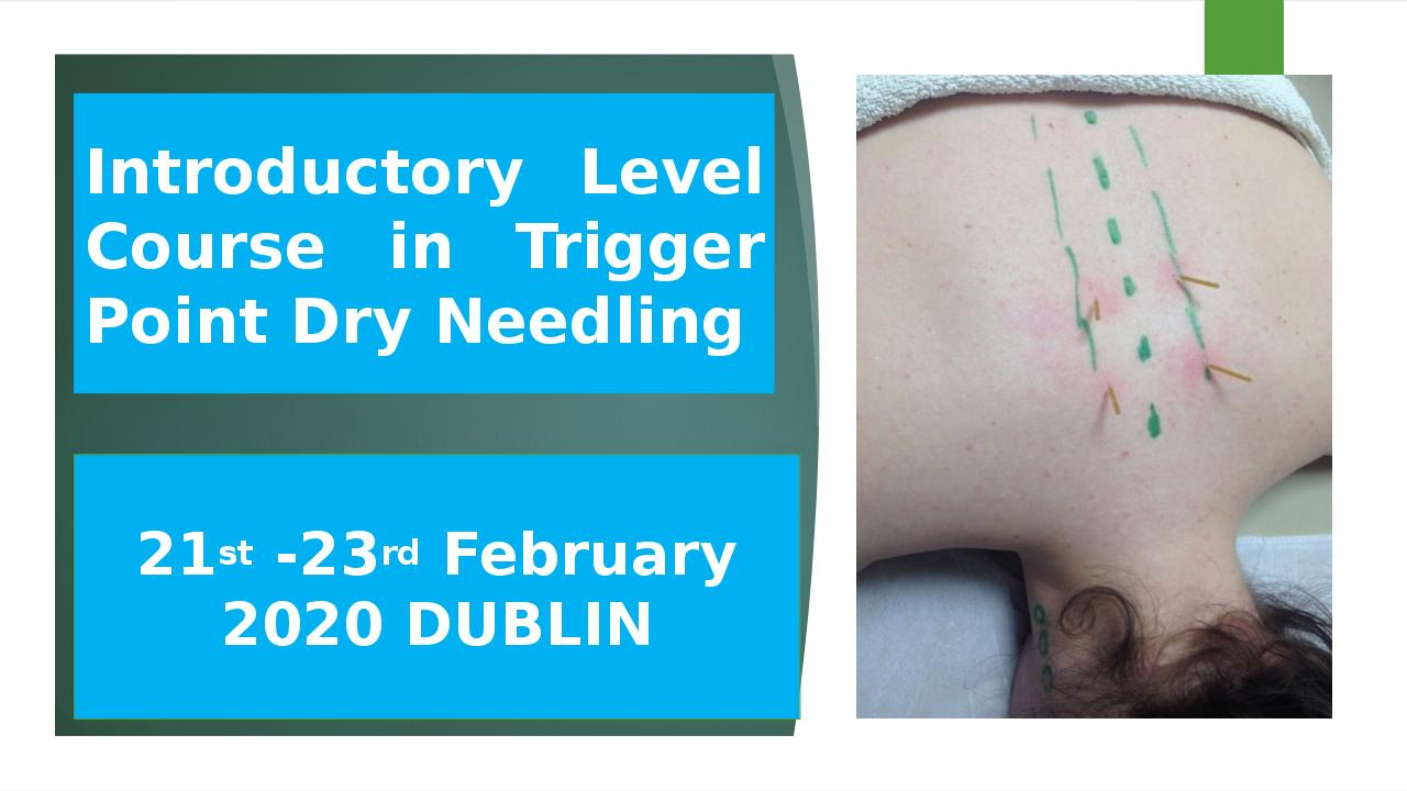 €480 EARLY BIRD FEE 21ST-23RD FEBRUARY INTRODUCTORY LEVEL DN COURSE, DUBLIN