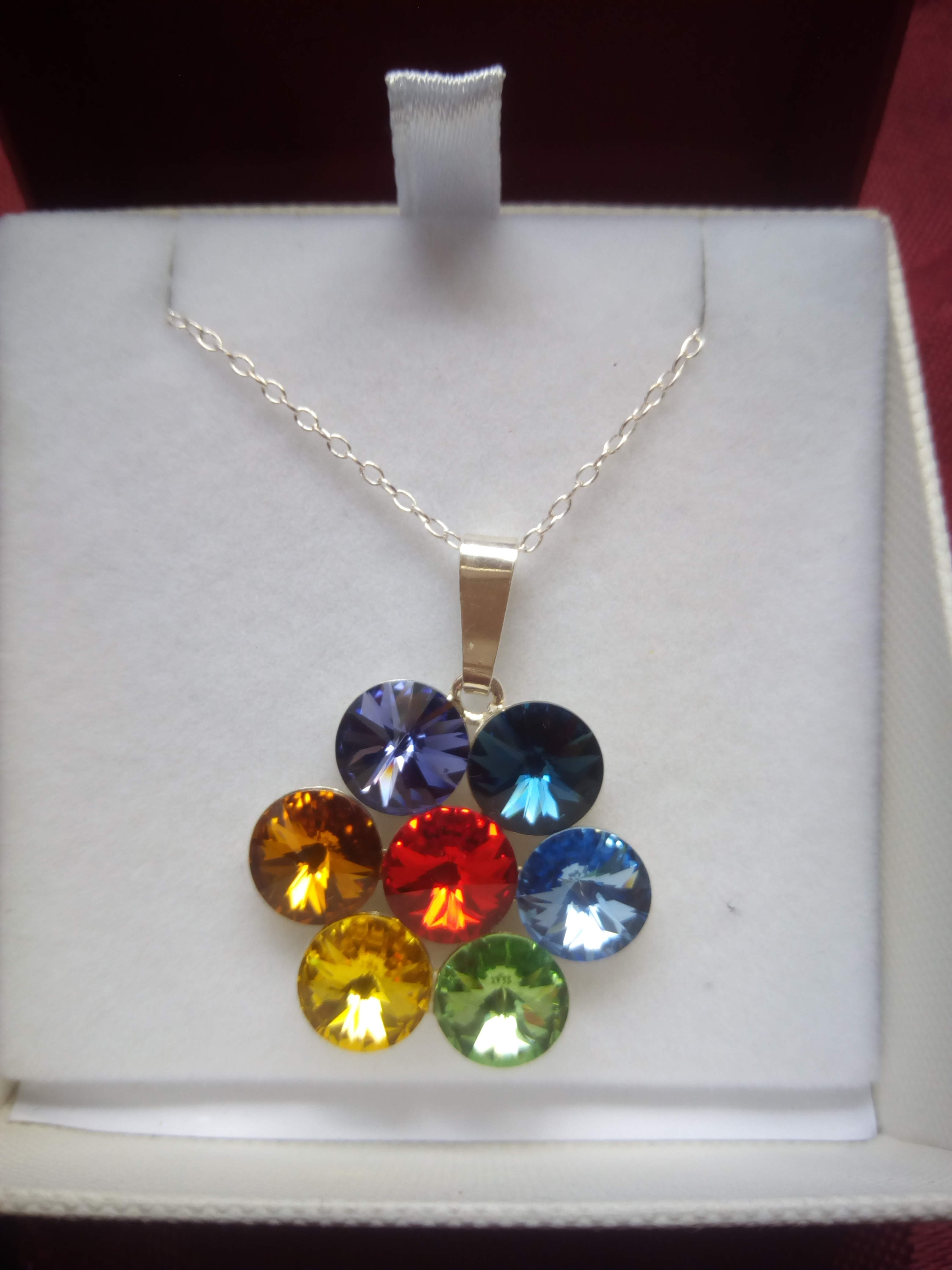 Colourful Sterling Silver pendant