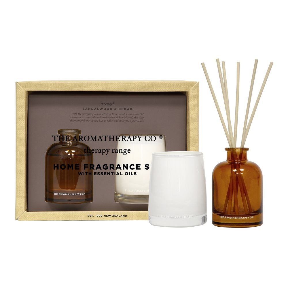 100g Candle & 50ml Reed Diffuser Therapy Set - Strength