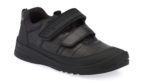 Boys school shoes in trainer style with double Velcro straps