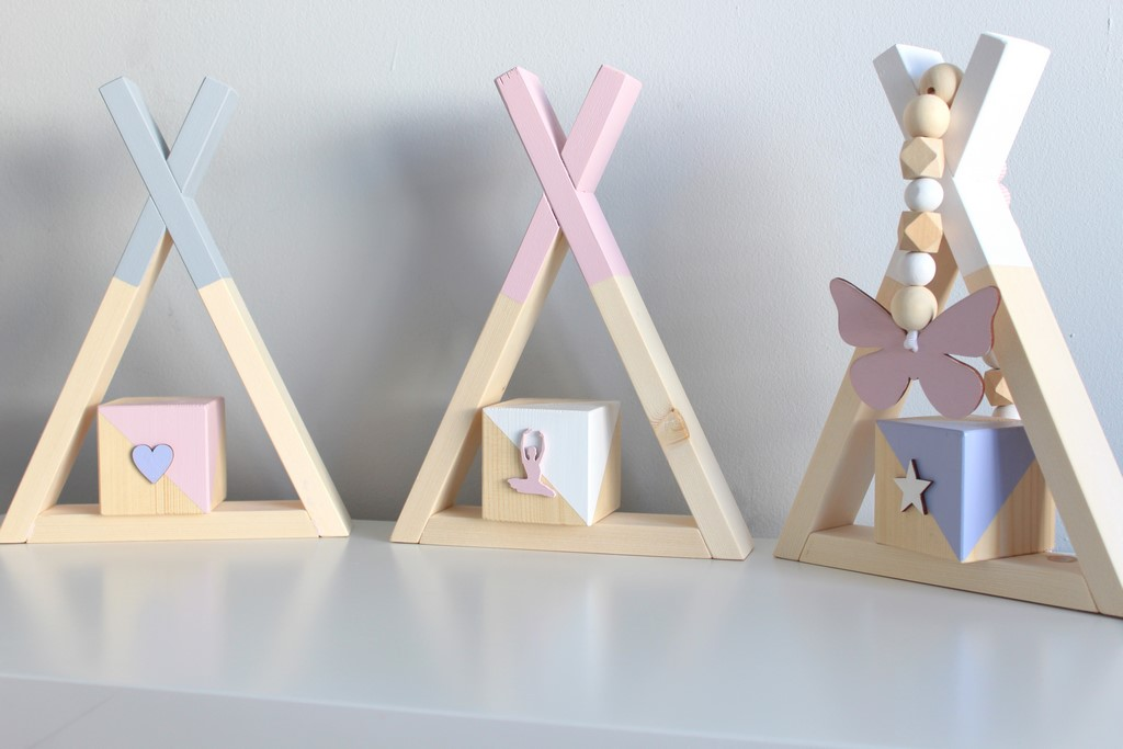 Wooden Teepee Shelf - small