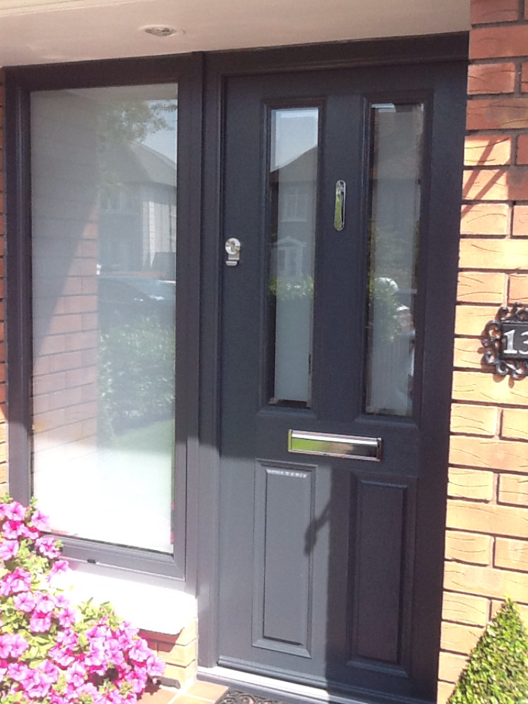 9b6ff51c08e3e CD62 KIMMAGE ANTHRACITE GREY APEER APM2 COMPOSITE FRONT DOOR FITTED BY  ASGARD WINDOWS IN DUBLIN 12.