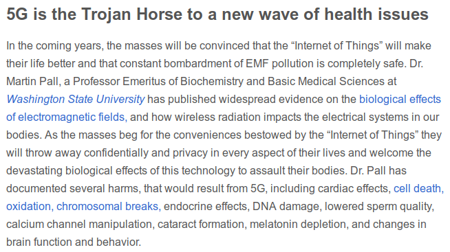 5G is a trojan horse of health issues