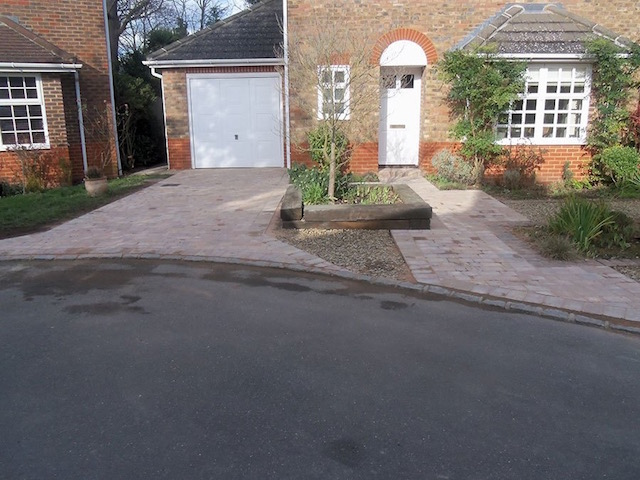 Completed block paved driveway Sunbury-on-Thames
