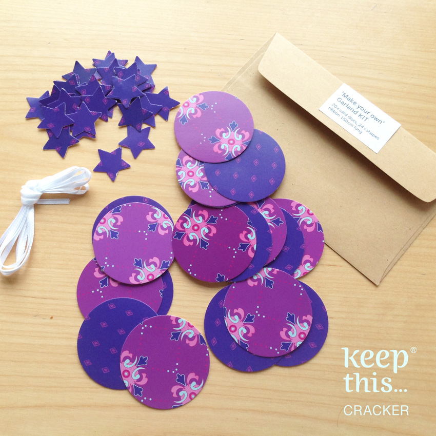 Make your own - Garland KIT - Purple card