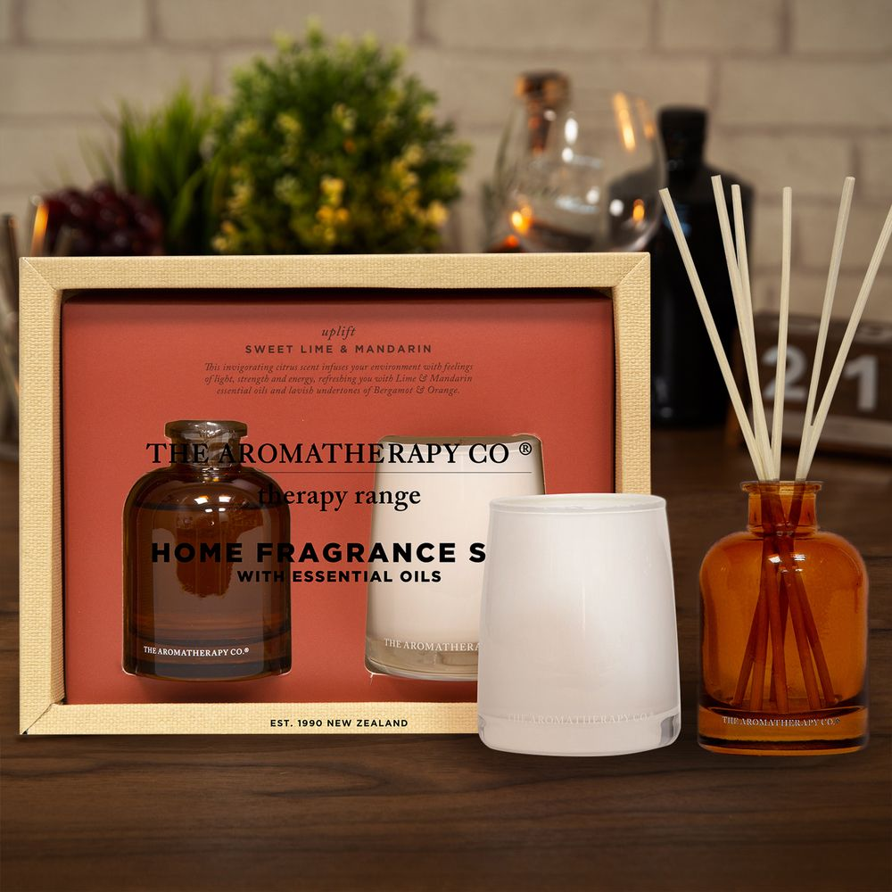 100g Candle & 50ml Reed Diffuser Set - Uplift