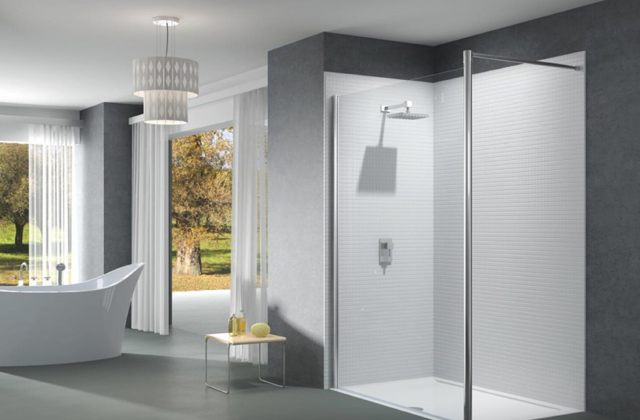 Sleek and modern shower unit from Splash Bathrooms Castle Douglas