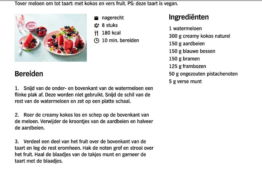 Watermeloentaart - Recept AHjpg