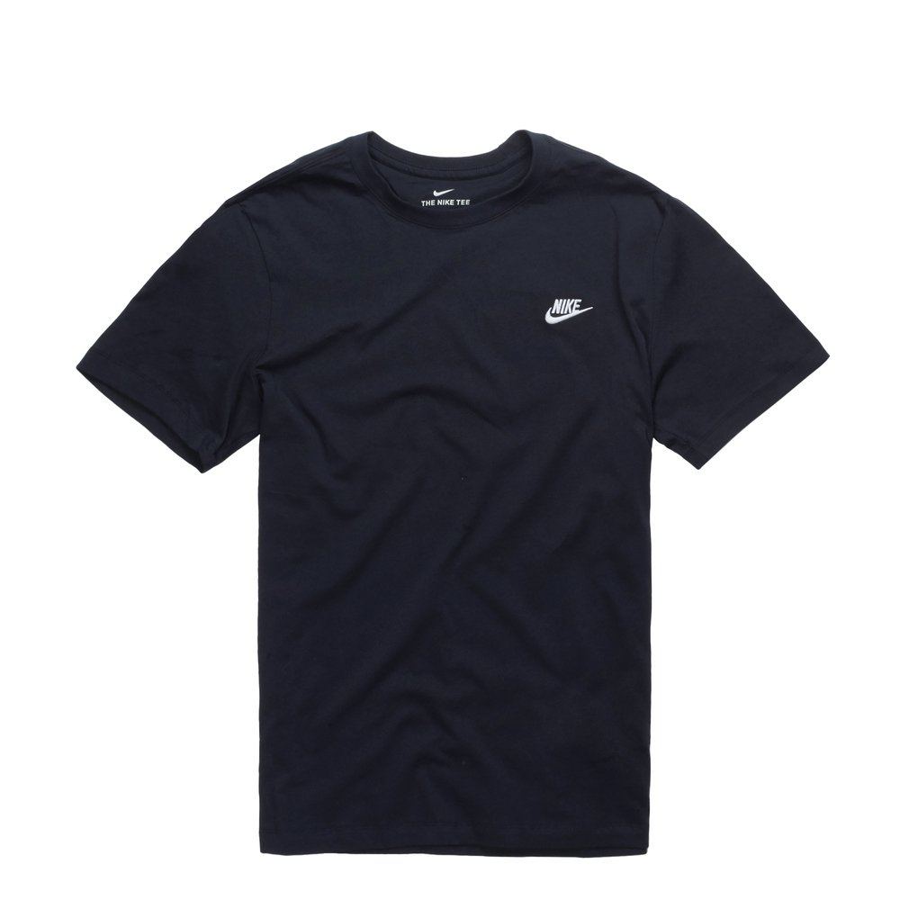 Nike NSW Club T-Shirt Navy-White