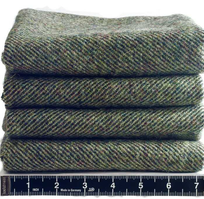 Donegal Tweed by Fabric Affair:Tory Island Collection:Loden Green Tweed.