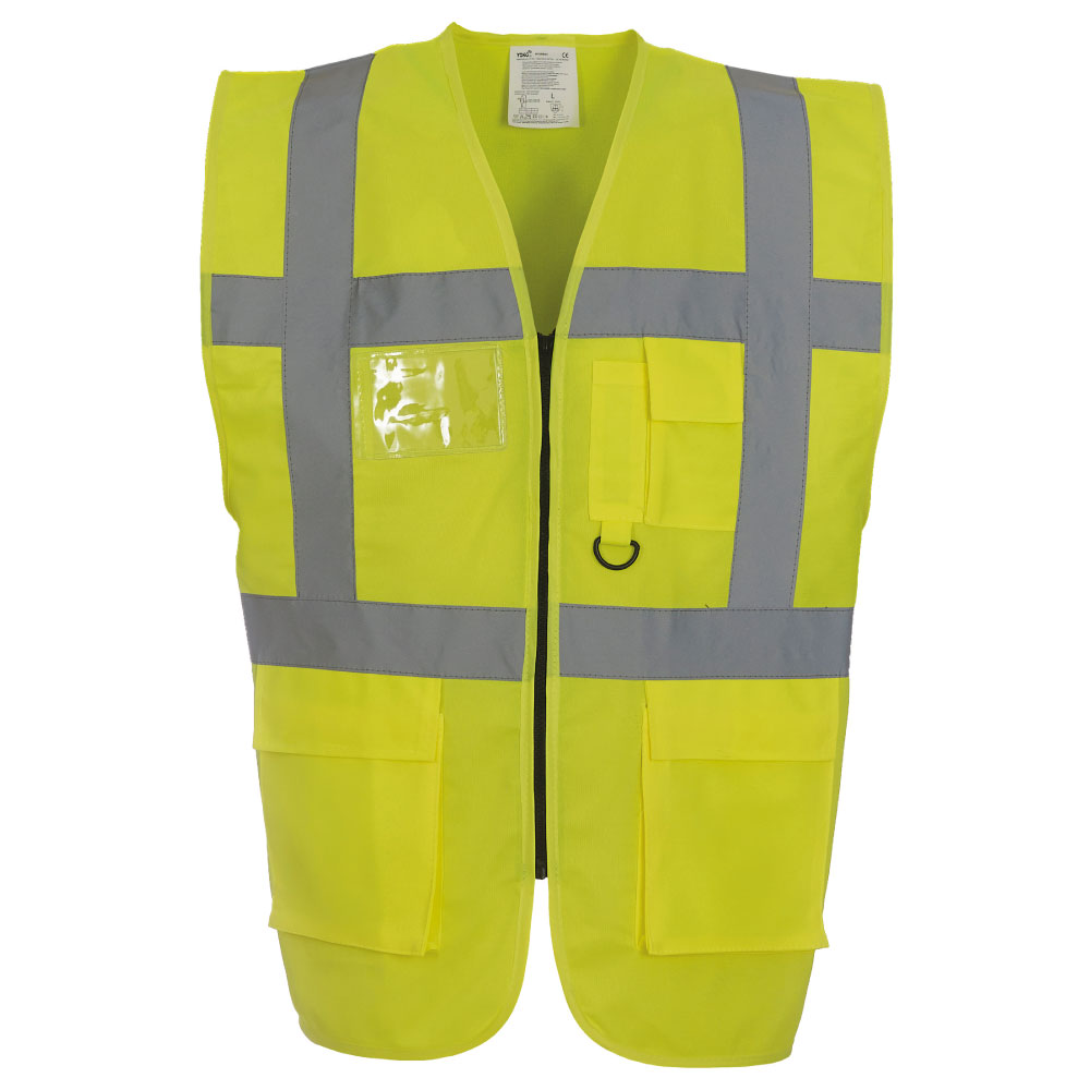 Hi Vis Yellow Executive Vest with Pockets.