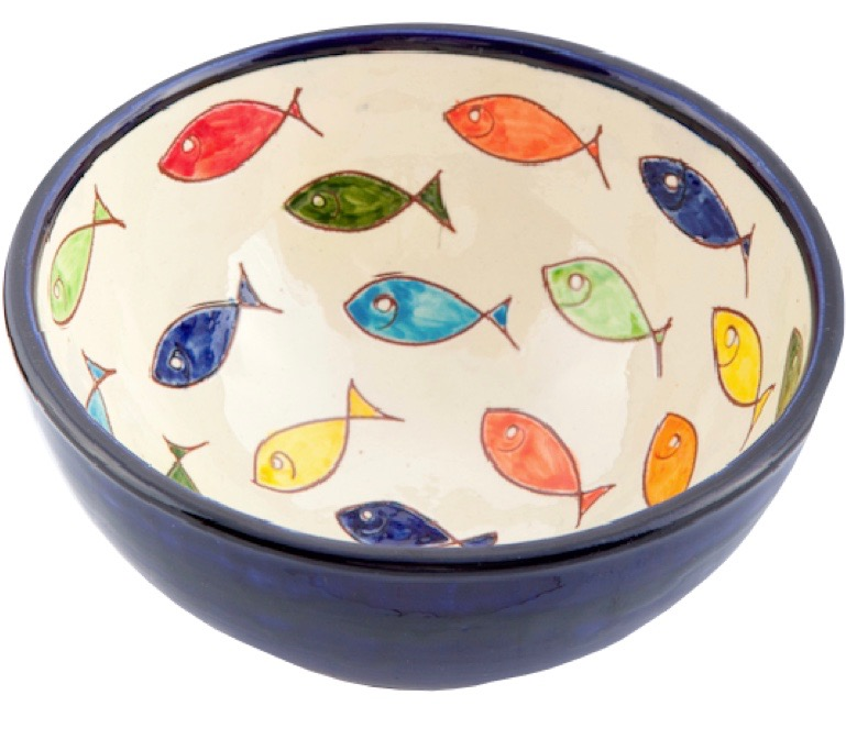 Coloured fish appetiser bowl Spanish Ceramics
