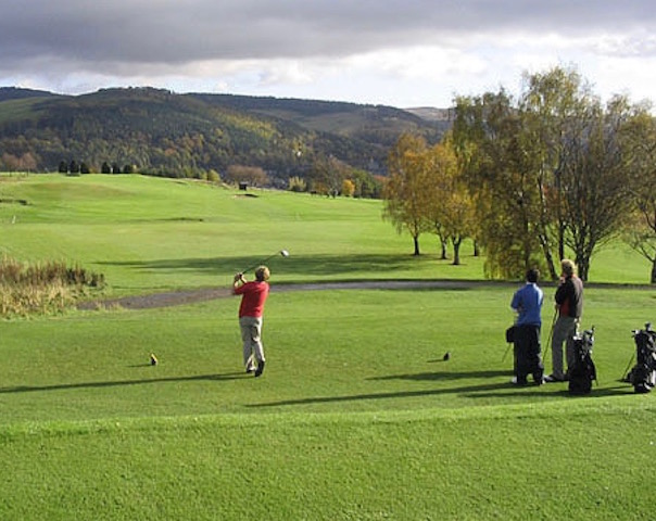 Golfing scene - East Challoch is close to three great golf courses