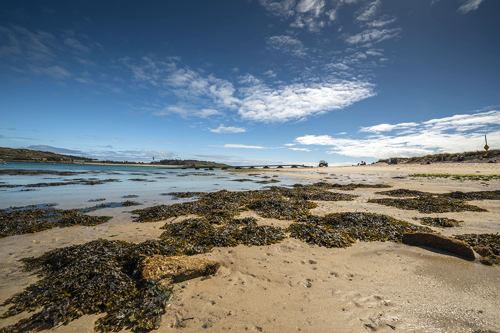 Scenic view of The Bar from Norrard beach at low tide. Stock Image ID: 2843