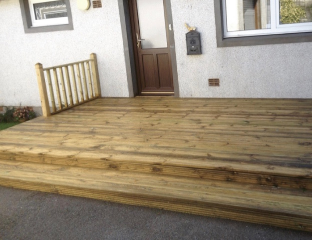Timber decking Dalbeattie by Creative Gardens