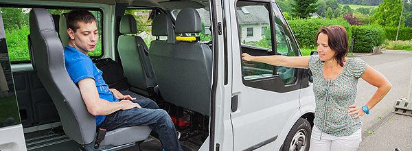 Interior of accessible van