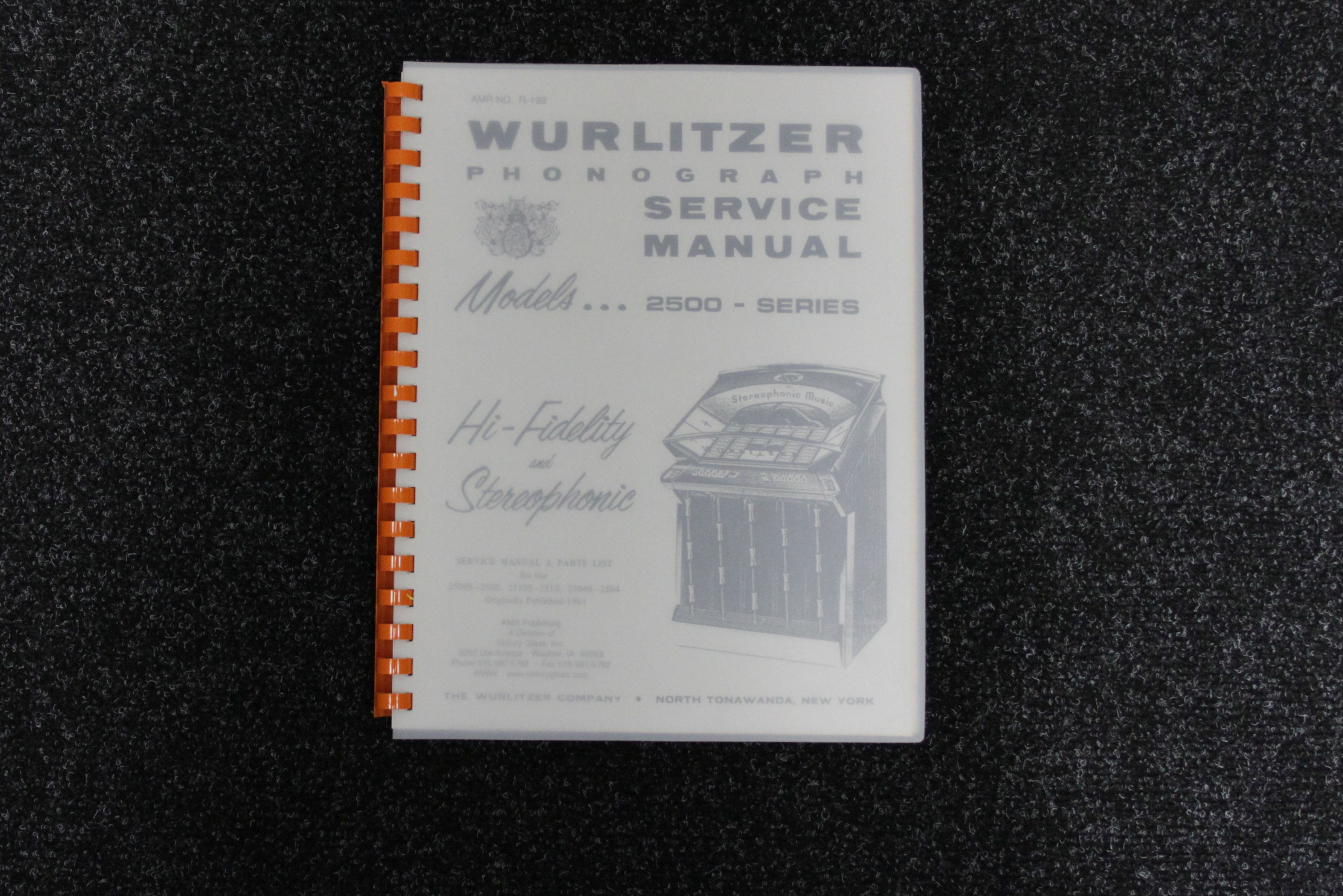 Wurlitzer Service Manual 2500 series