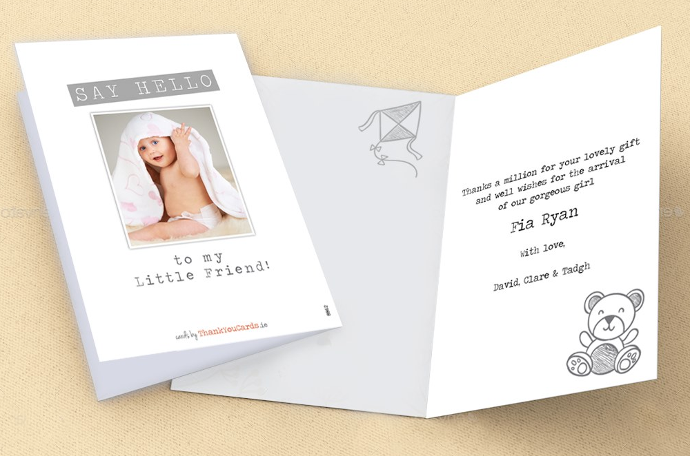 Sample baby thank you card wording and verse