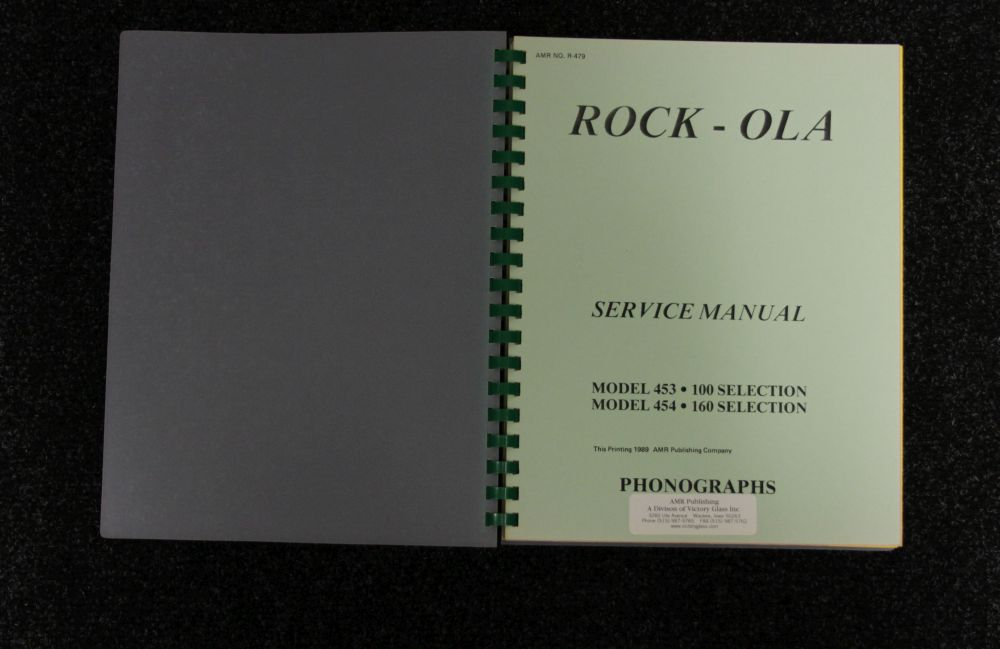 Rock-Ola Service Manual - Model 453 454
