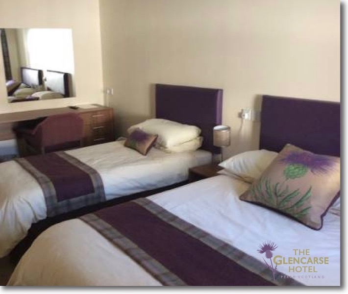 Comfortable guest rooms at The Glencarse Hotel near Perth, Scotland