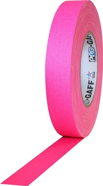 "PRO GAFF® - FL Pink Fluorescent Gaffer Tape - 1"" x 25 yards (24mm x 22.8m)"